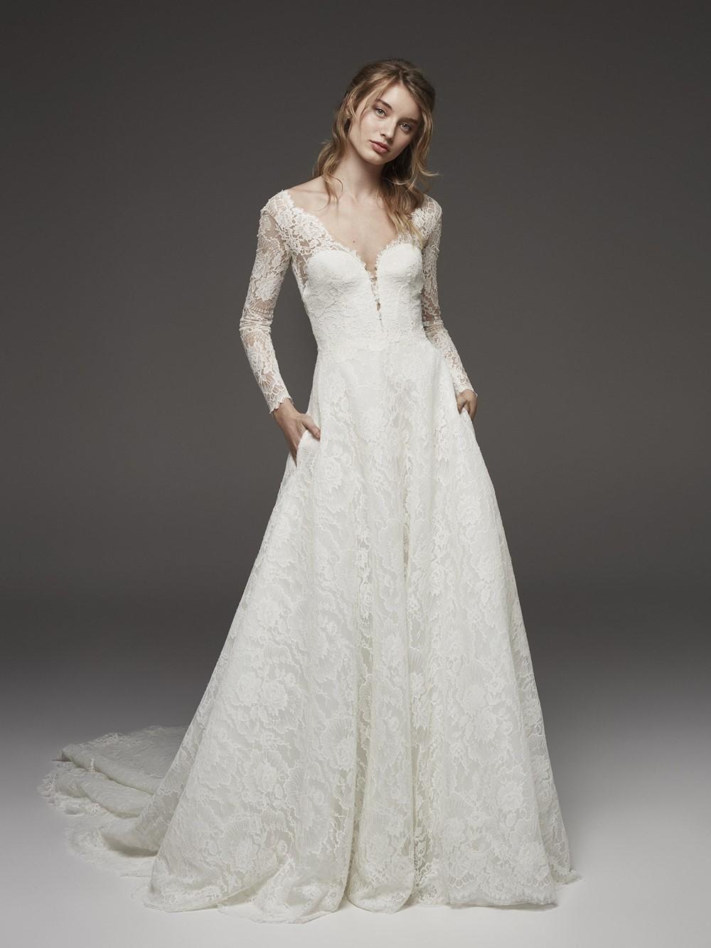 2019 Bridal Trends - Pockets Pronovias HENRIETE Fall 2019 Bridal