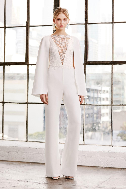 2019 Bridal Trends - Trousers Tadashi Shoji Spring 2019 Bridal