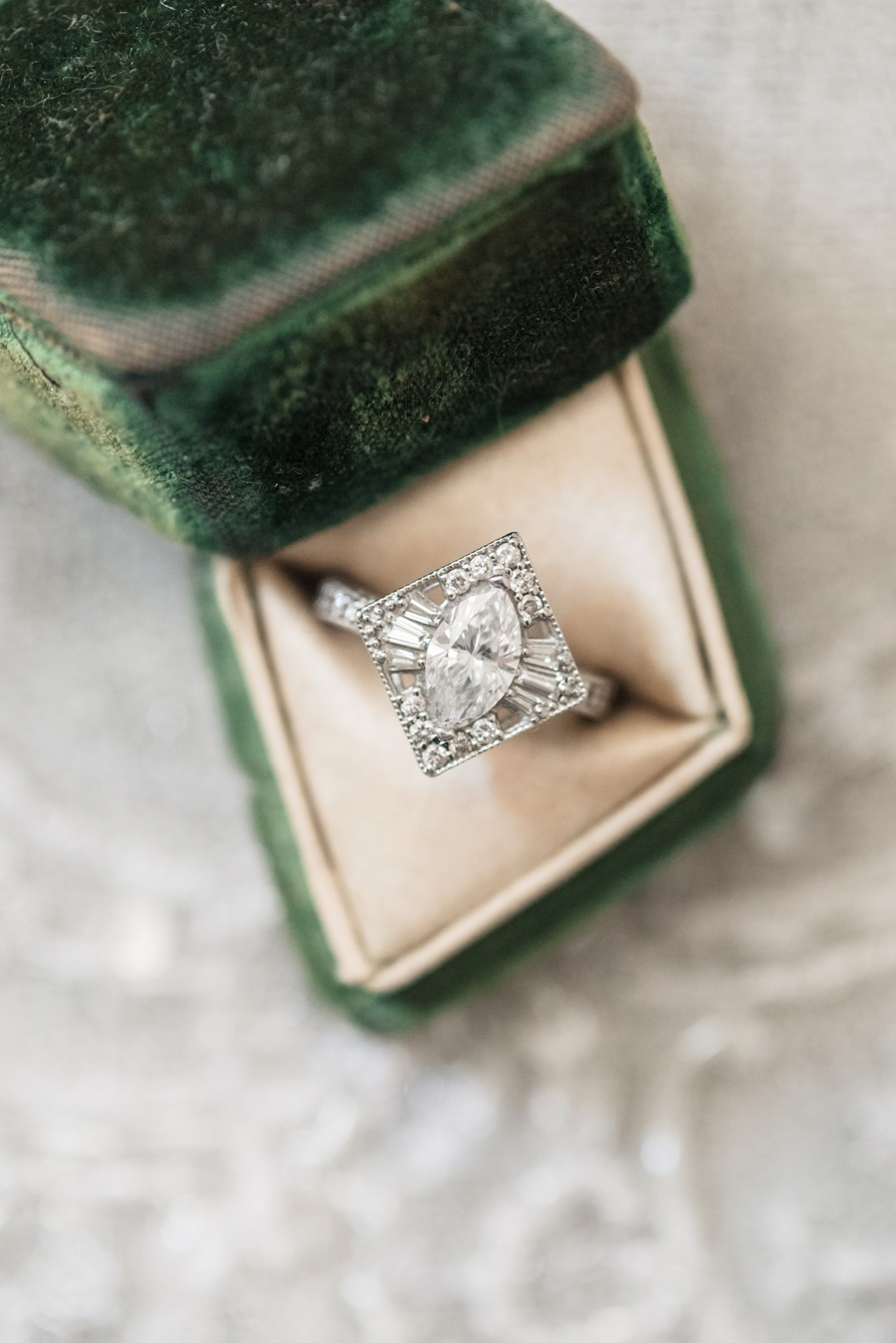 Vintage White Gold Engagement Ring