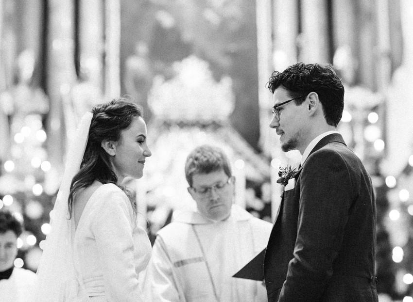 Christmas Church Wedding Ceremony