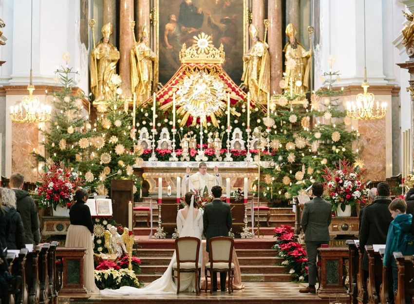 Magical Christmas Church Wedding