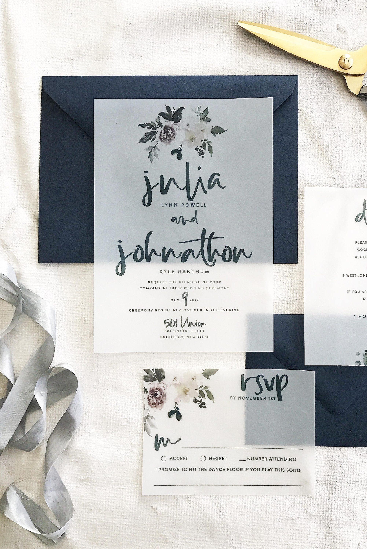 Julia Vellum Wedding Invitation Suite Chic Vintage Brides Chic