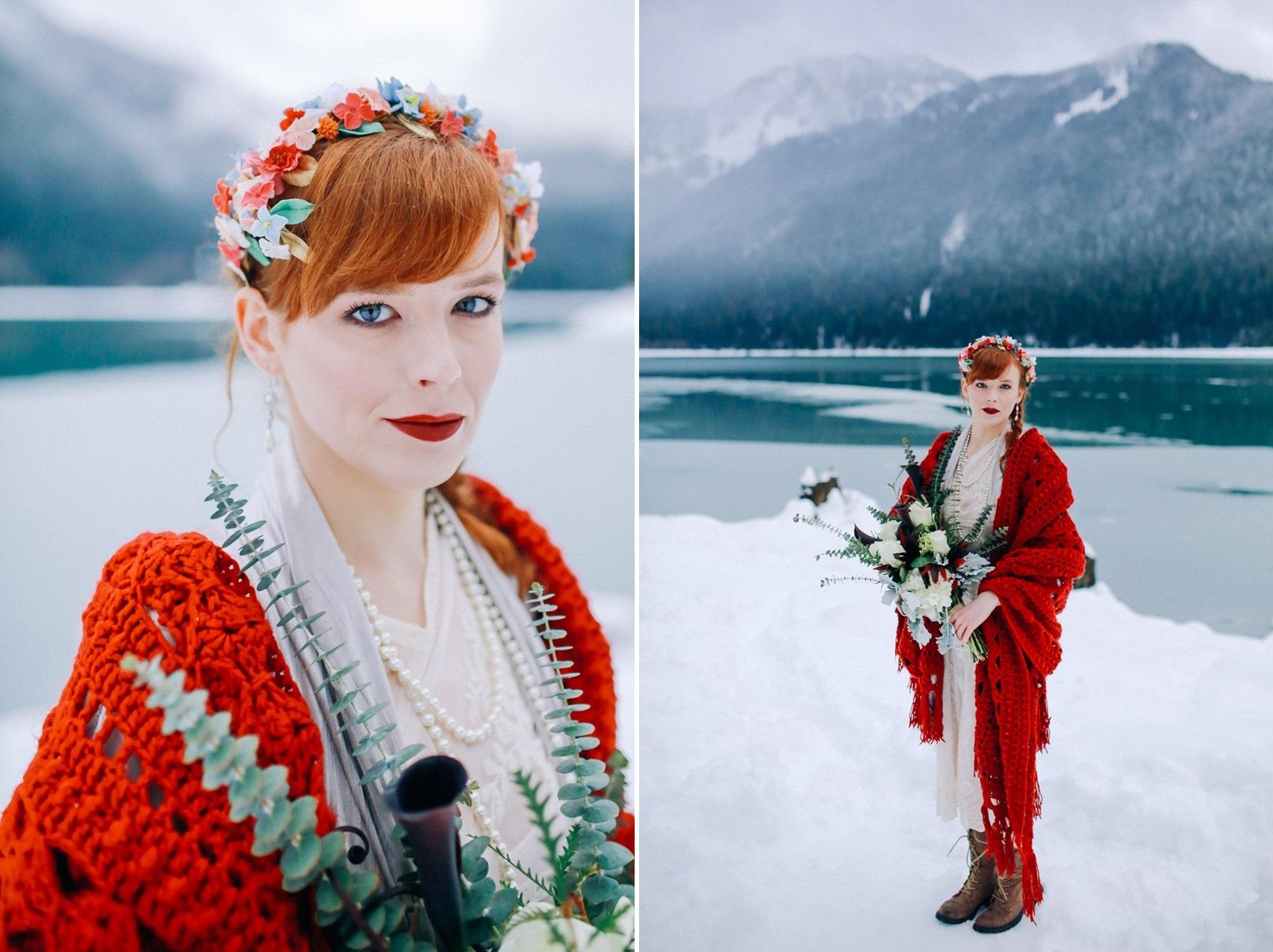 Rustic Vintage Winter Bride