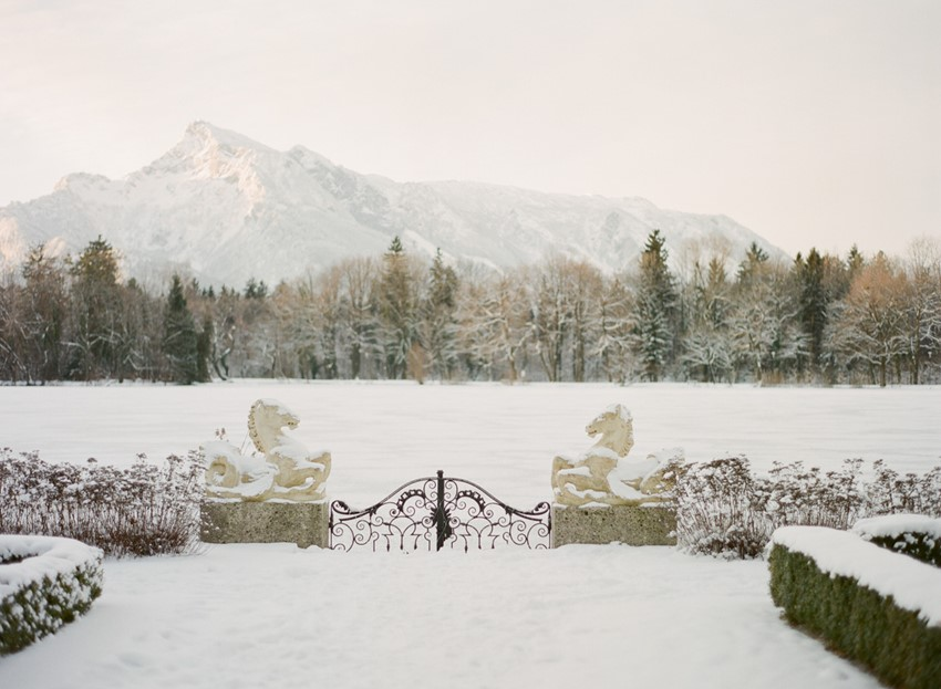 Snowy Winter Wedding in Austria