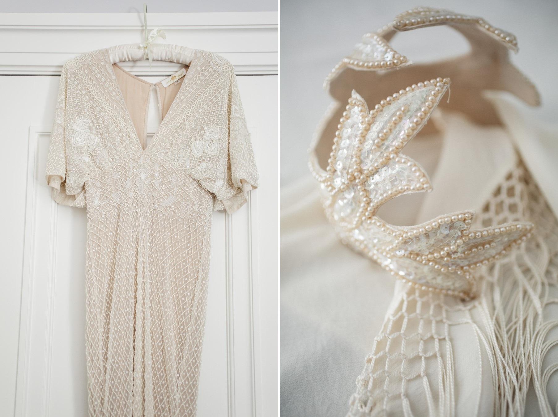 Vintage Wedding Dress & Headpiece
