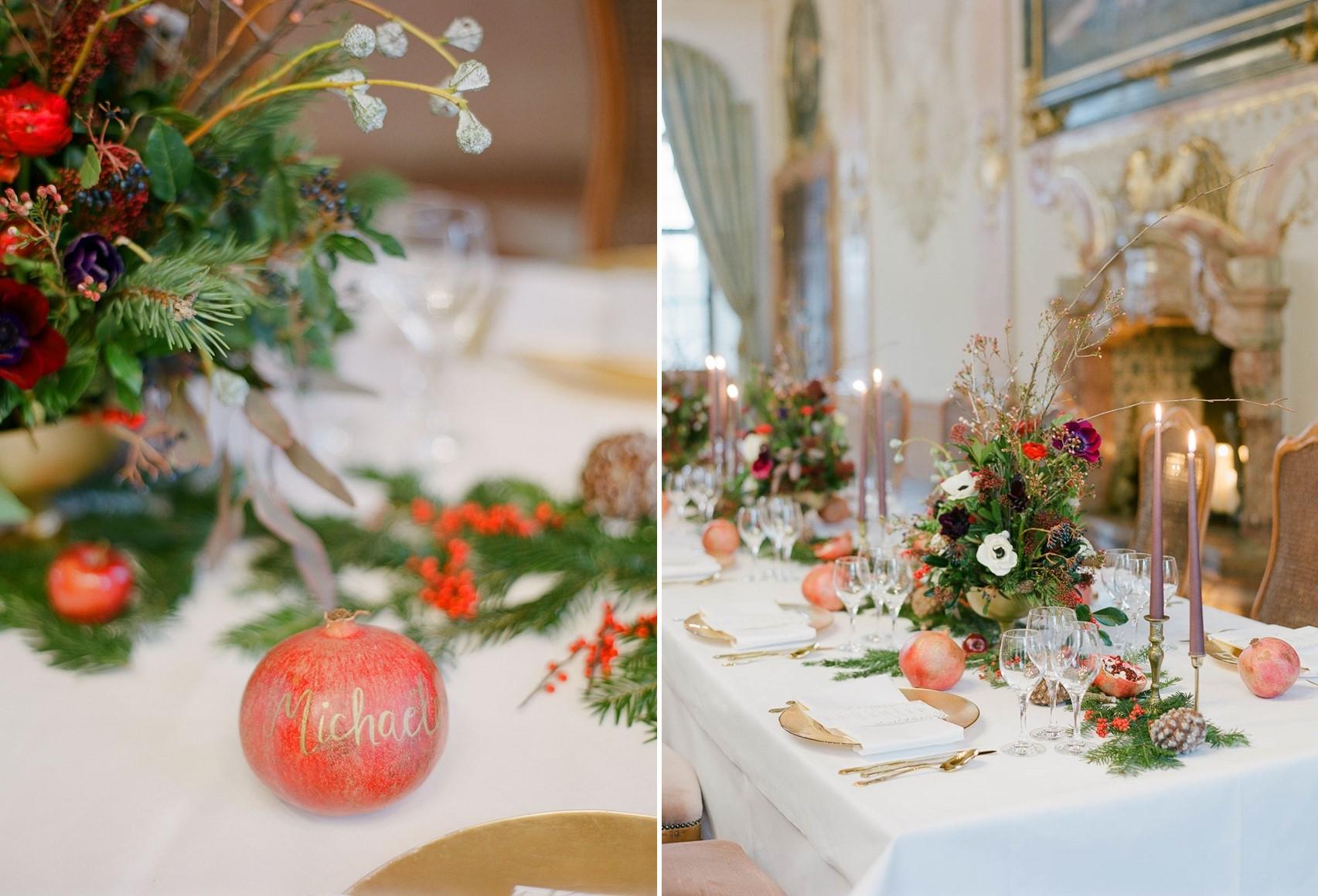 Christmas Wedding Tablescape