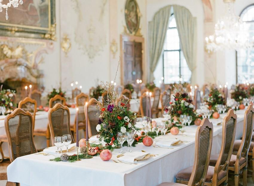 Elegant Christmas Wedding Tablescape