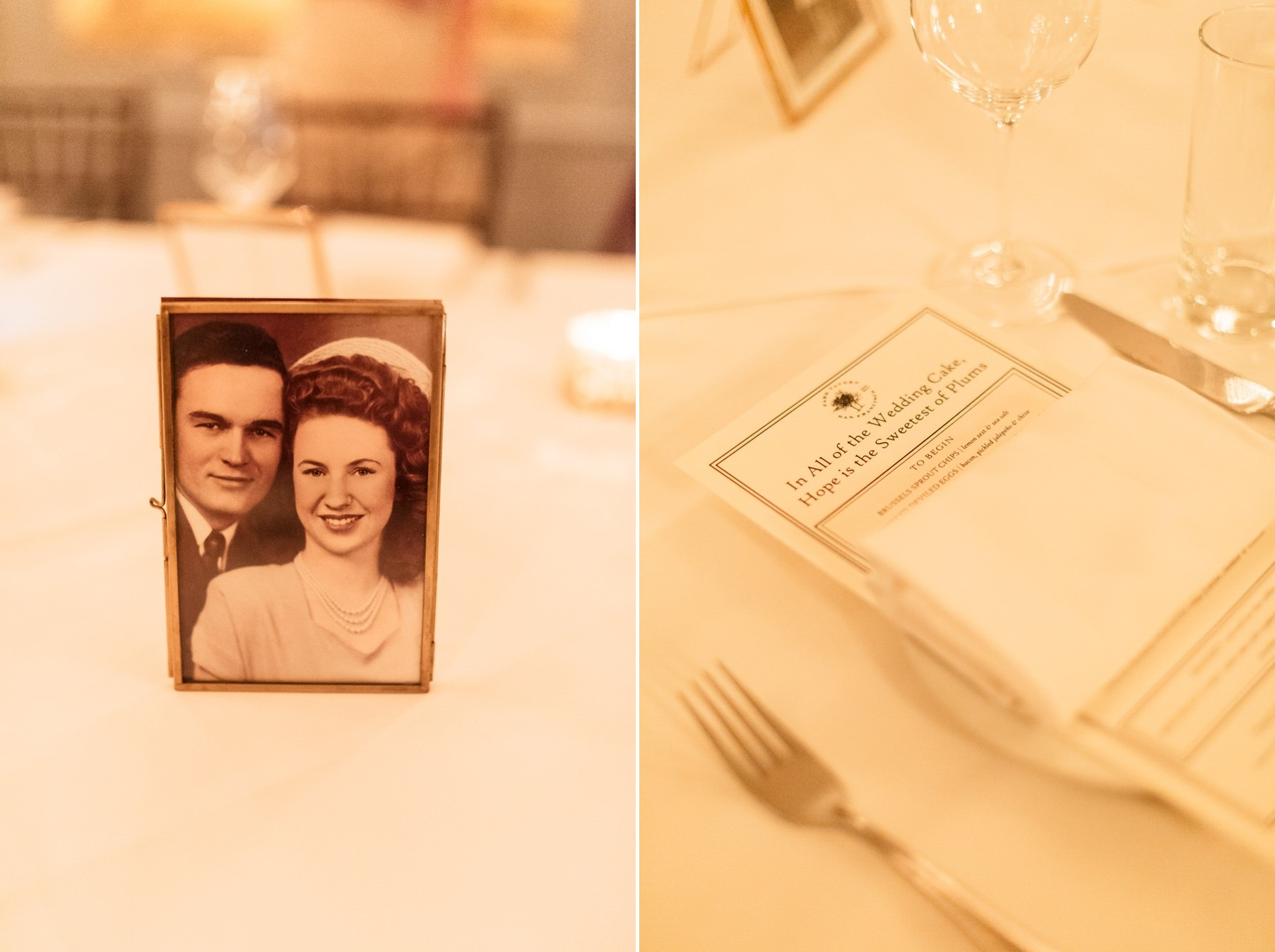 Vintage Wedding Table Centerpiece