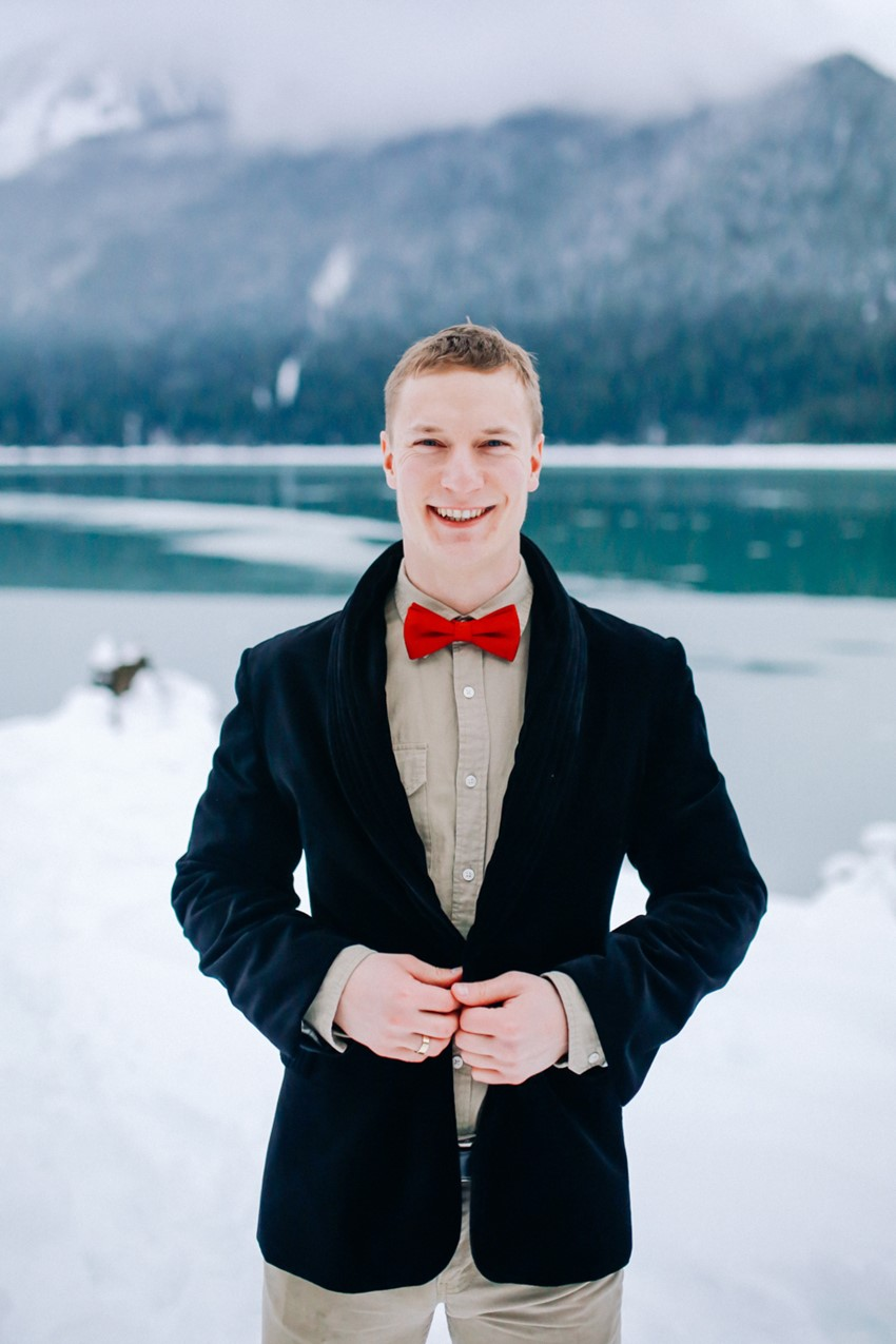 Vintage Winter Groom