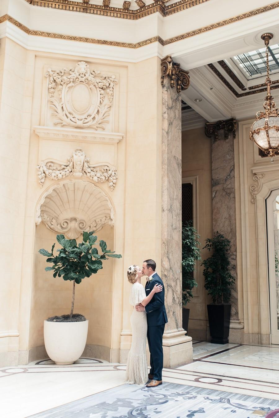 City Hall Wedding First Look