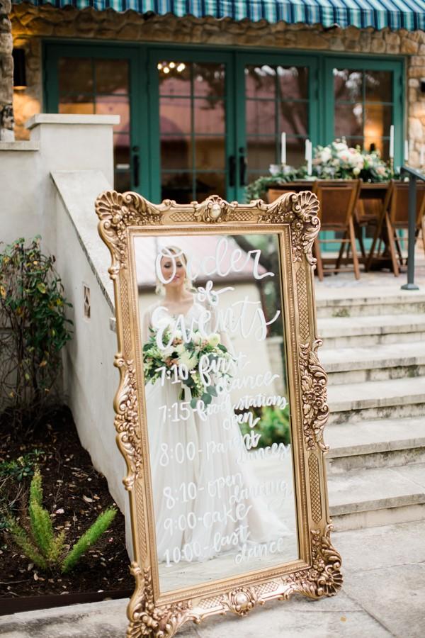 Vintage Mirror Wedding Programme