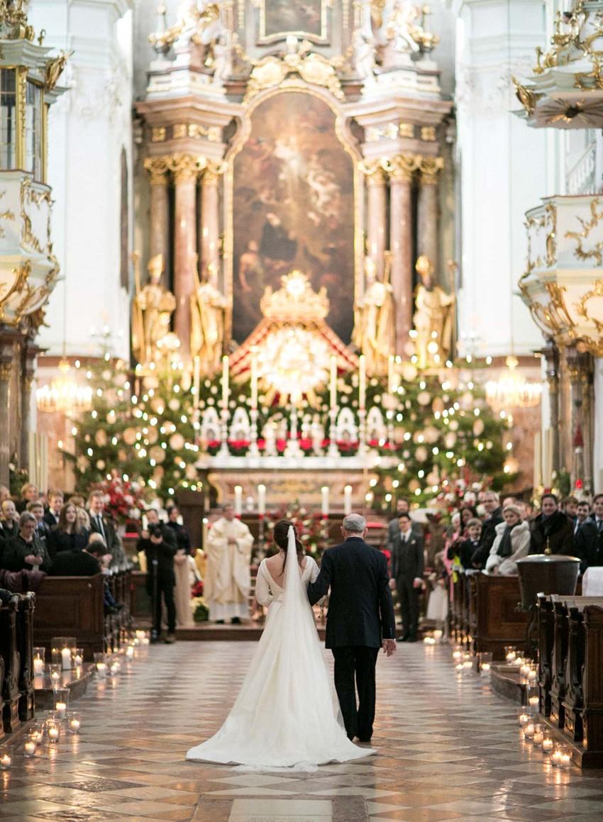 Christmas Church Wedding