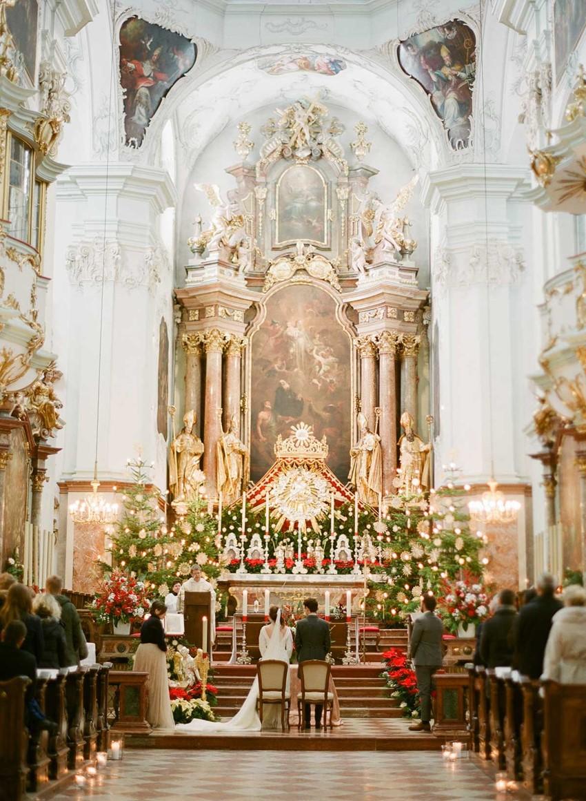Magical Christmas Church Wedding