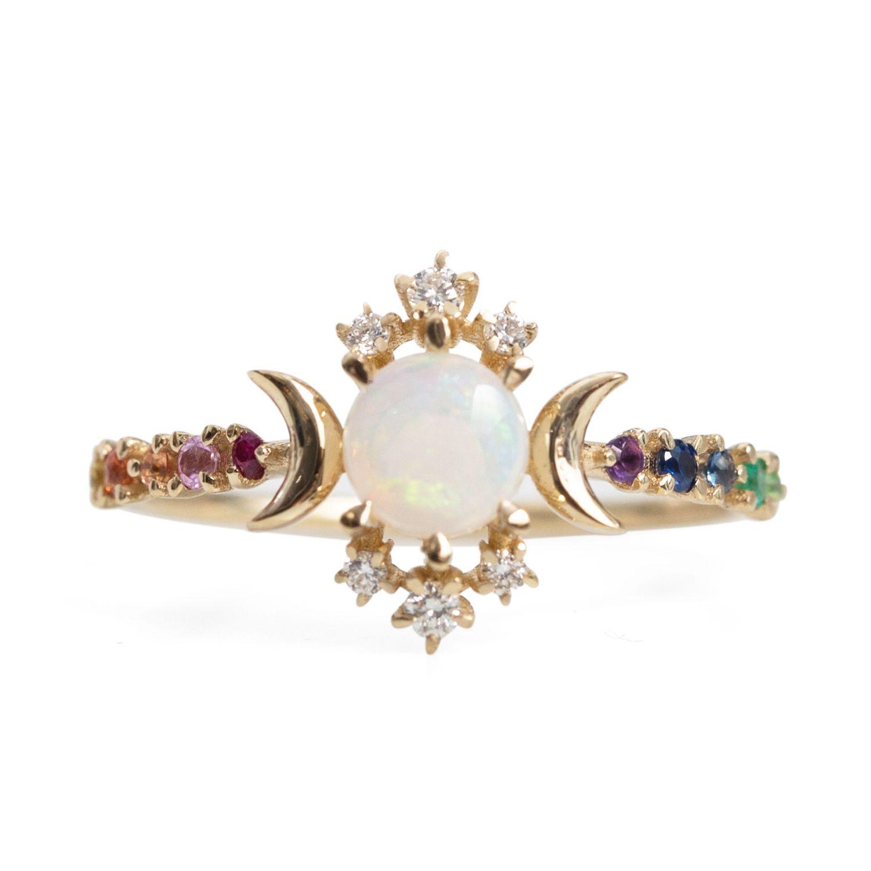 Rainbow Engagement Ring