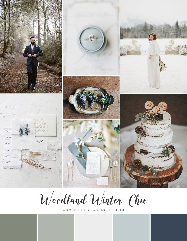 Snowy Winter Wedding Inspiration Board