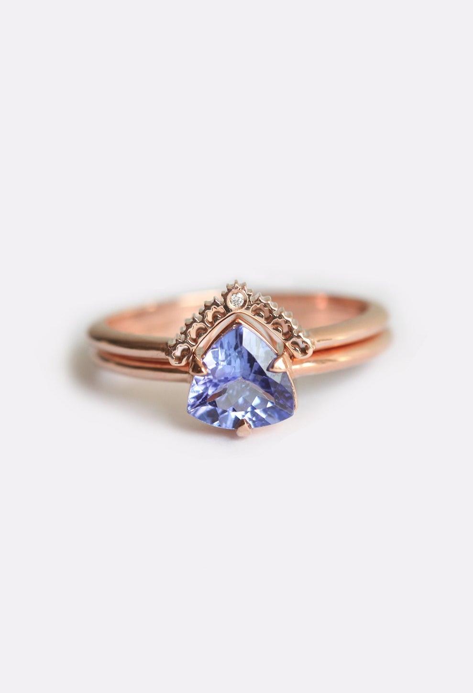 Tanzanite Engagement Ring Set
