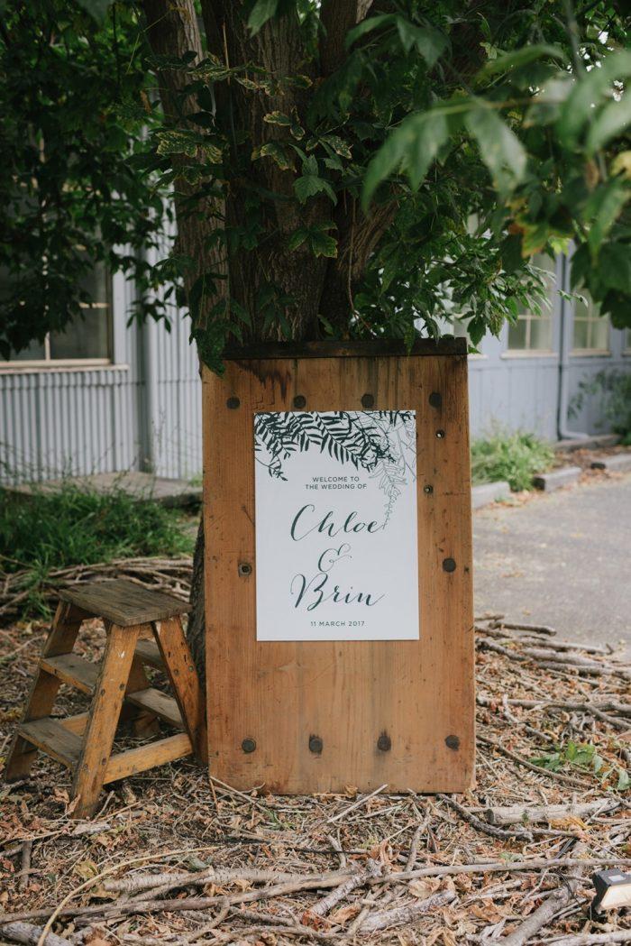 Rustic Industrial Wedding Sign