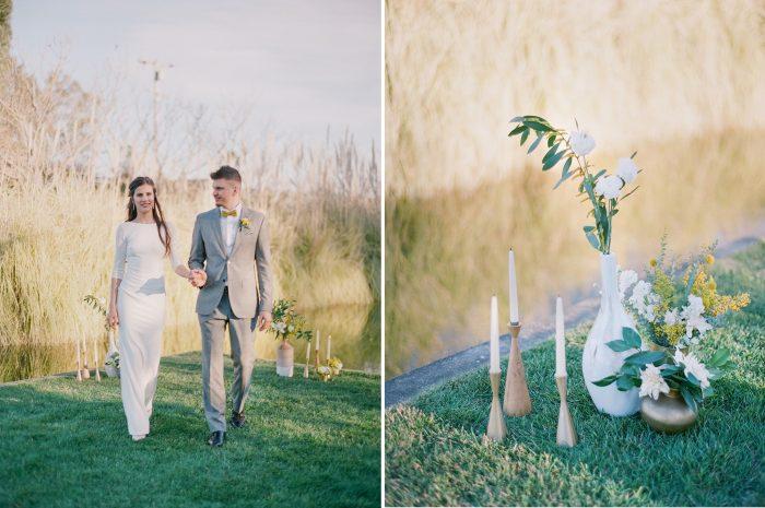 Minimalist Spring Wedding Ceremony