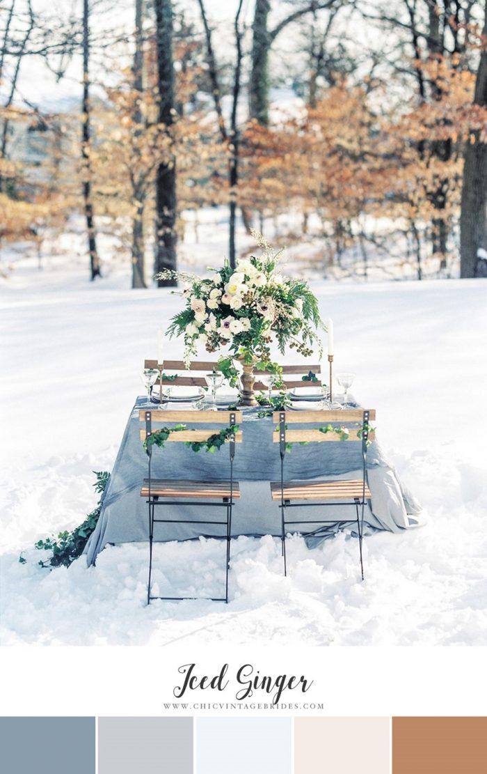 Iced Ginger Winter Wedding Colour Palette