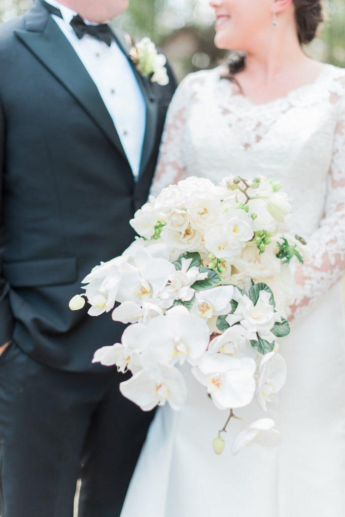 Orchid & Rose White Bridal Bouquet