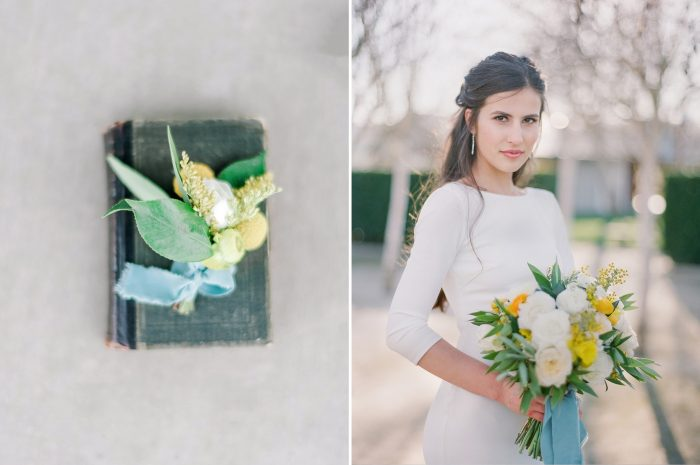 Spring Wedding Inspiration in Yellow, Grey & Blue