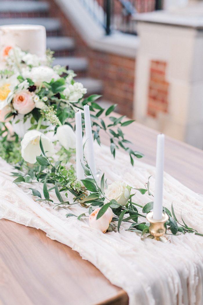 Spring Garden Wedding Table Centerpiece