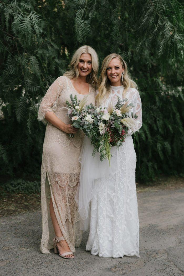 Indie Bride & Bridesmaid