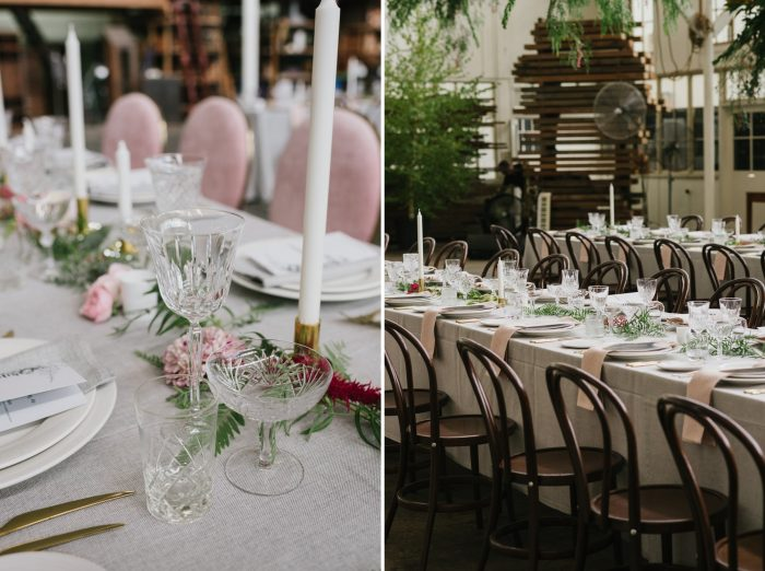 Indie Greenery Filled Wedding Reception