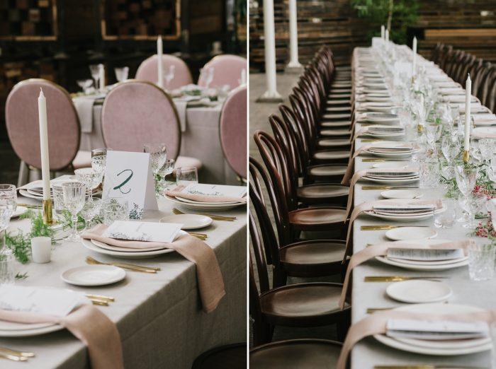 Understated Indie Wedding Tables