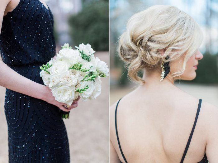 Bridesmaid Bouquet & Updo