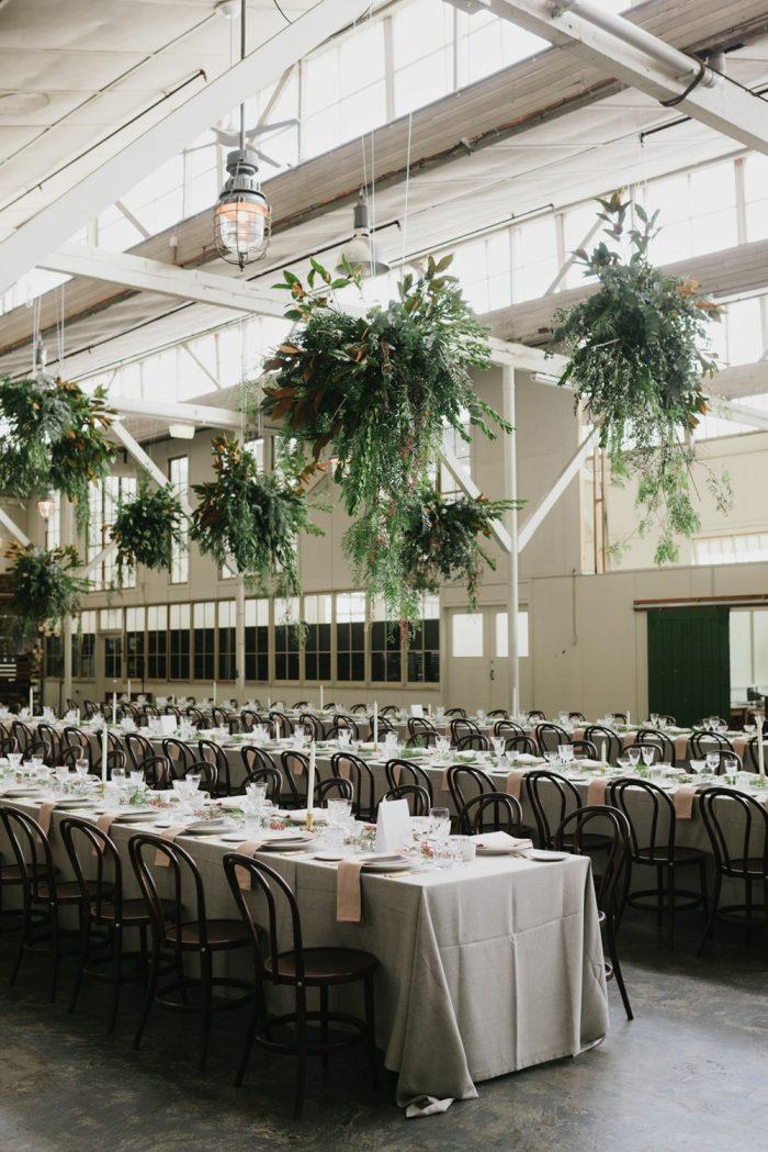 Hanging Greenery Wedding Flowers