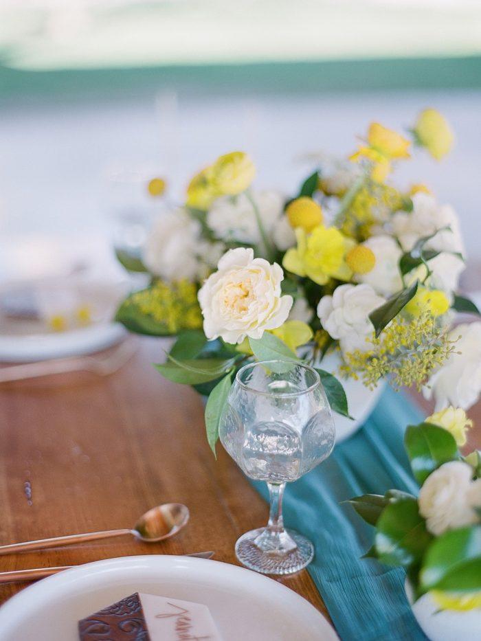 Spring Garden Wedding Table Decor