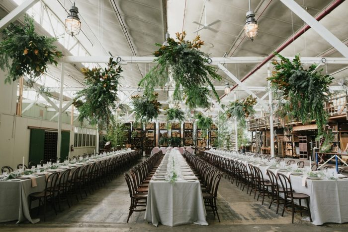 Greenery Filled Wedding Reception
