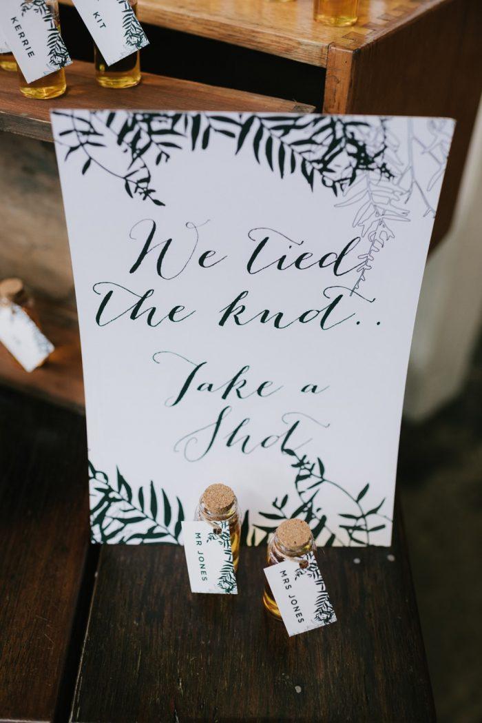 Shot Wedding Favors