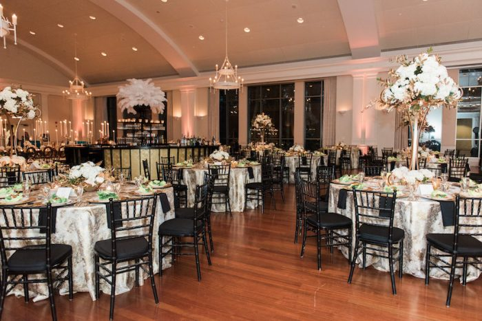Great Gatsby Inspired Wedding Reception