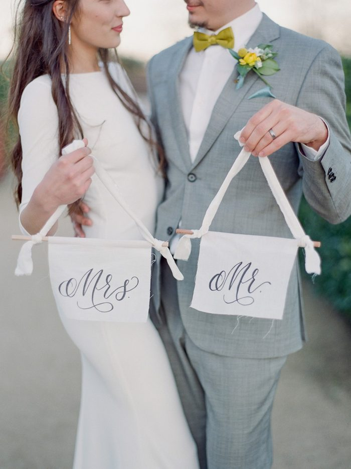 Mid-Century Spring Garden Wedding Inspiration