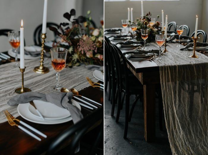 Minimalist Wedding Table Decor