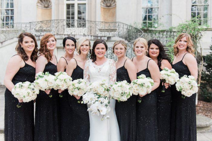 Glamorous Black Bridesmaids