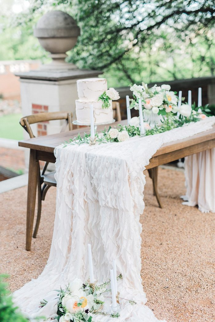 Blush Spring Garden Wedding Table