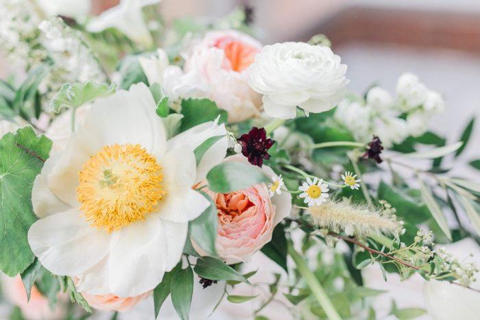 Blush Spring Garden Wedding Flowers