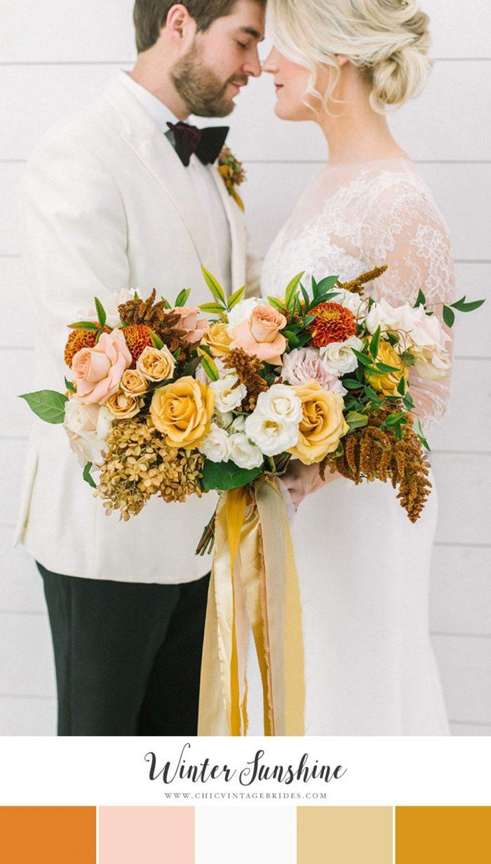 Winter Sunshine Wedding Colour Palette