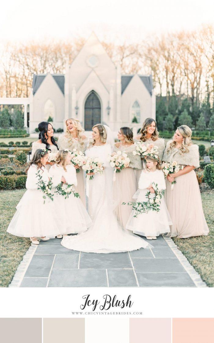 Icy Blush Winter Wedding Colour Palette