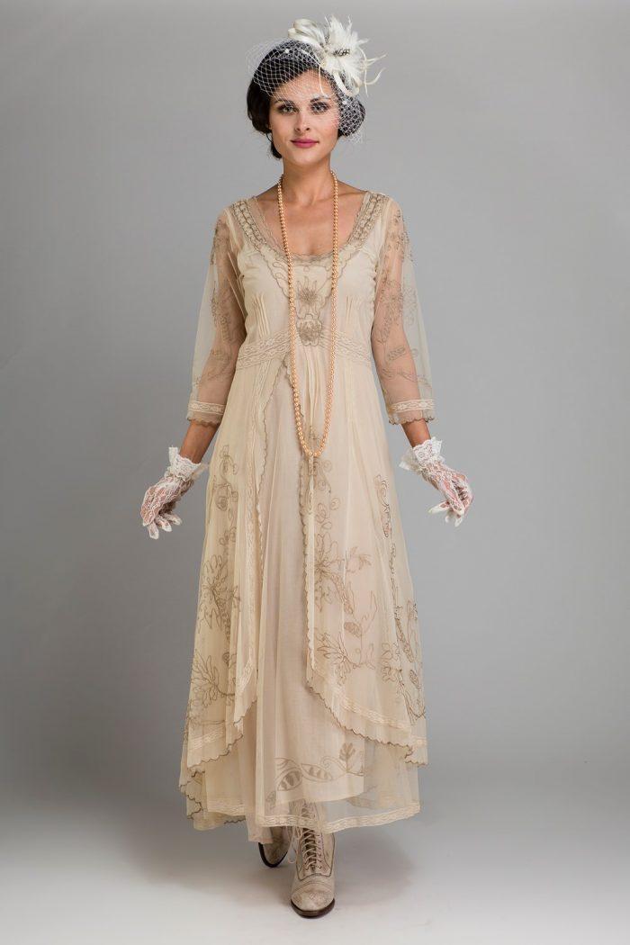Art Nouveau Inspired Wedding Dress