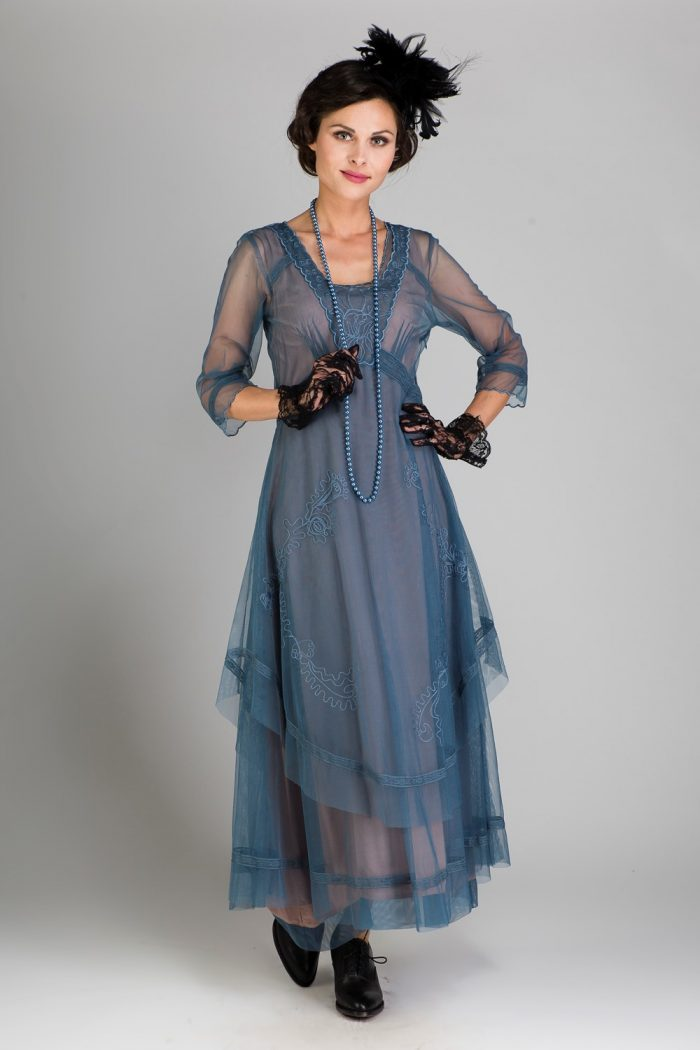 Blue Edwardian Inspired Dress