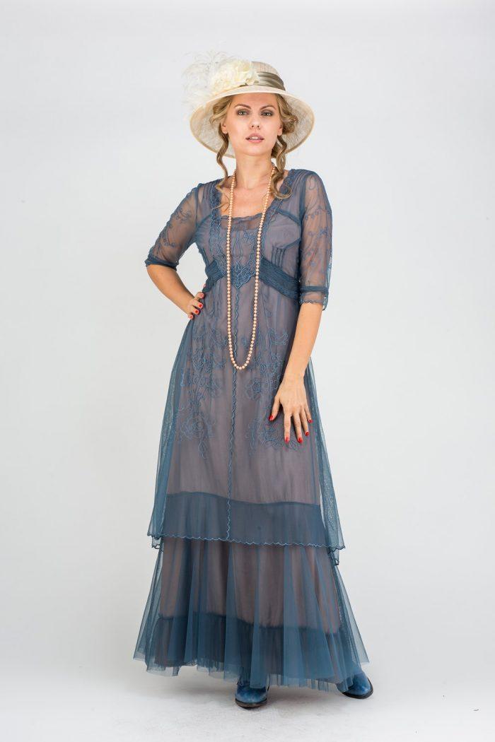 Blue Vintage Inspired Dress