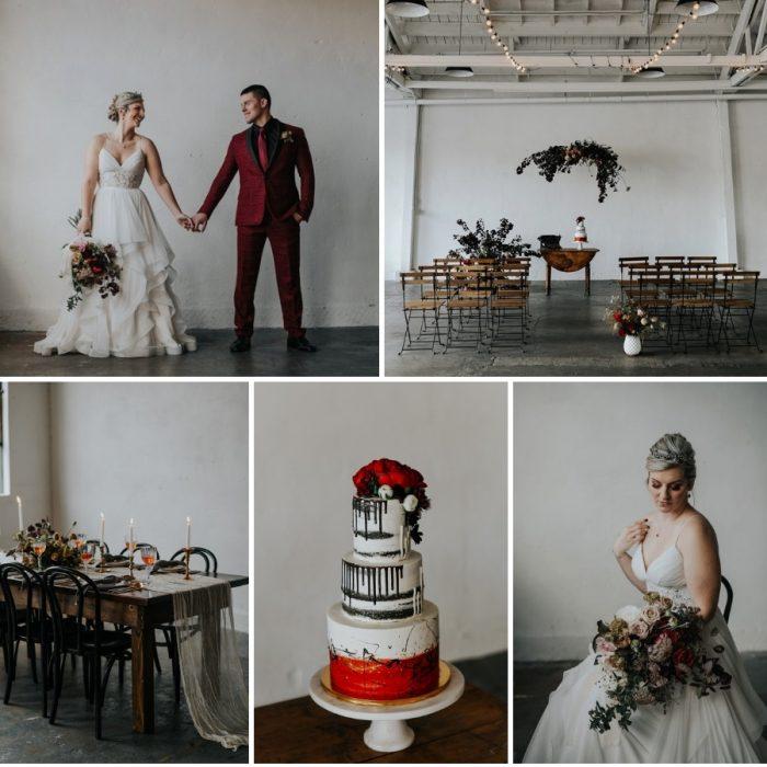Dramatic Red & White Wedding Inspiration