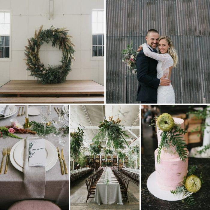 Greenery Filled Indie Wedding