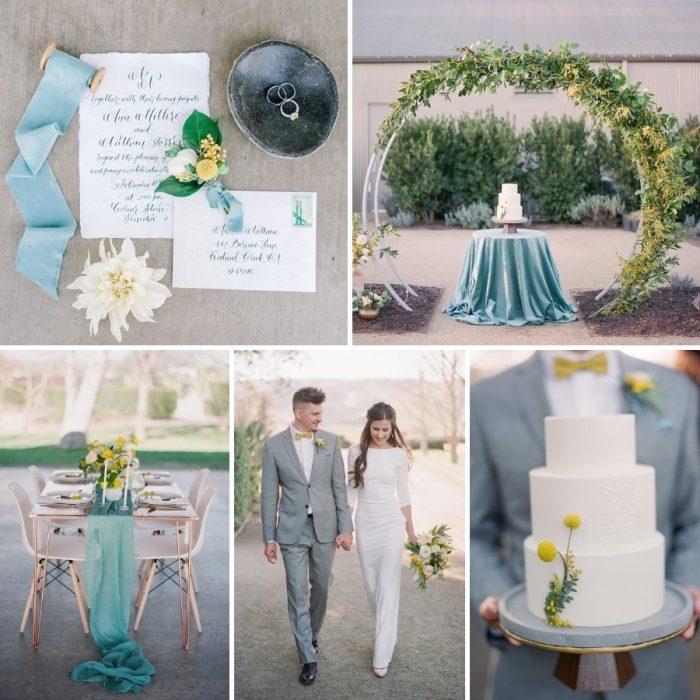 Minimalist Spring Garden Wedding Inspiration