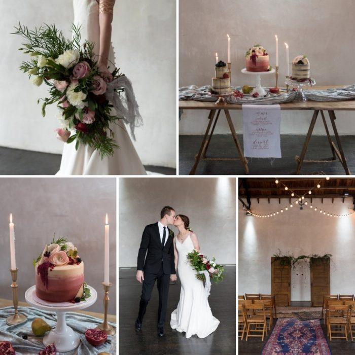 Minimalist Vintage-Boho Loft Wedding Inspiration