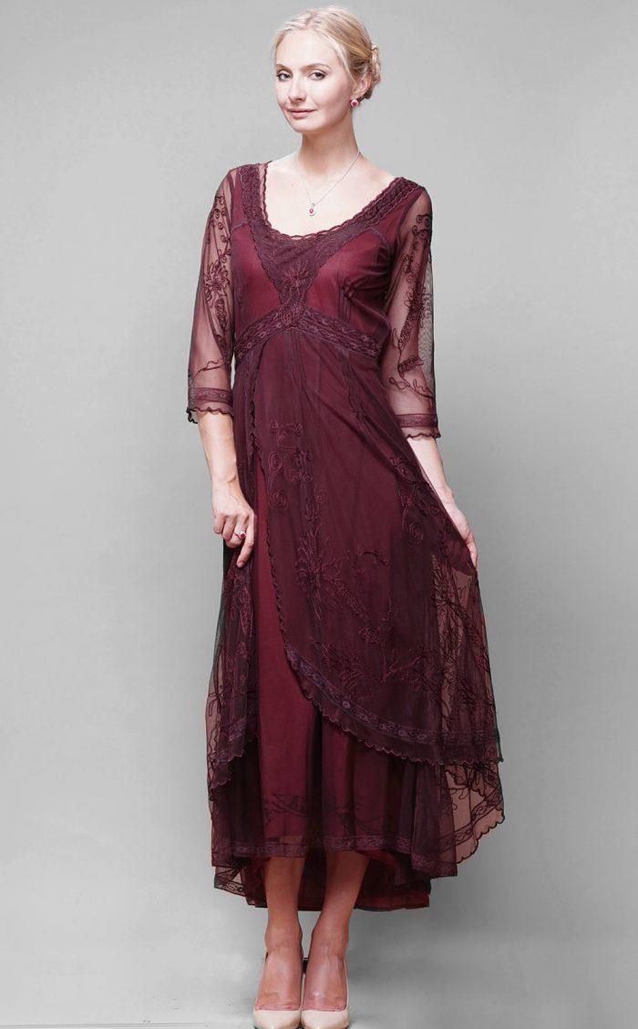 Plum Vintage Inspired Dress